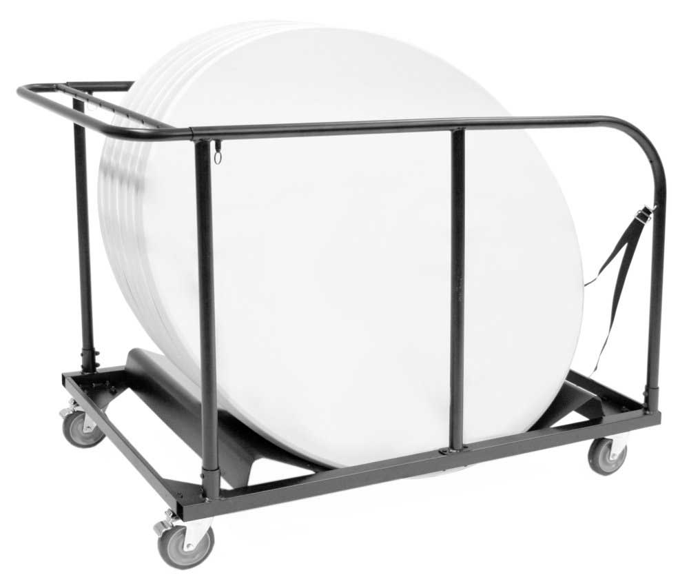 Blow Mold Round Tables Cart