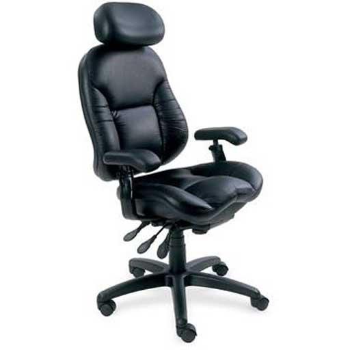 Black leather computer chair - Bodybilt Black Leather Ergonomic Office Chairs