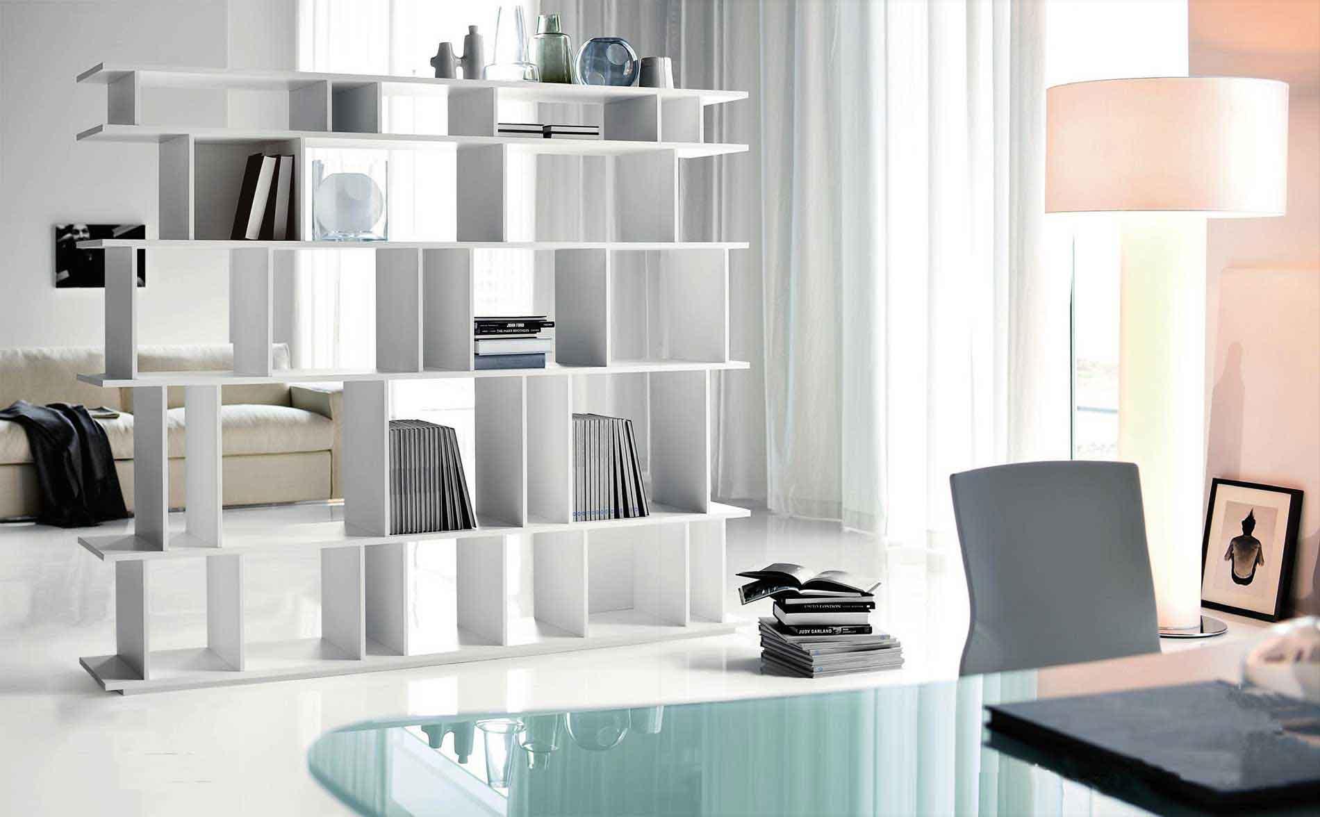 Cattelan Italian Loft LA White Bookcases