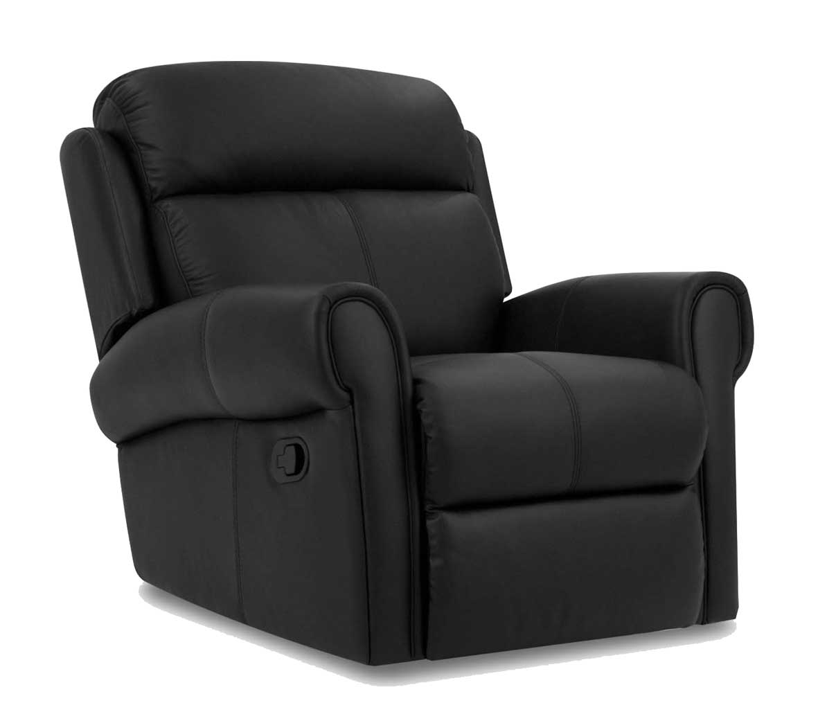 Comfortable home office black armchair leather