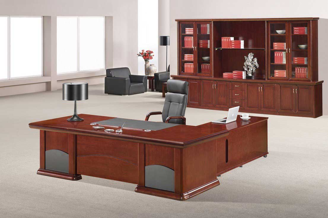 Contemporary wood executive desk ideas