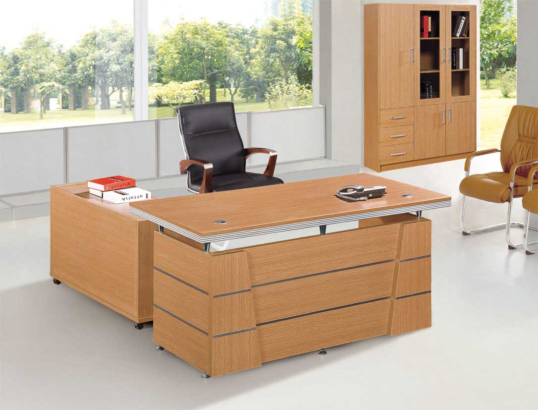 Solid Wood L-shaped Office Desks