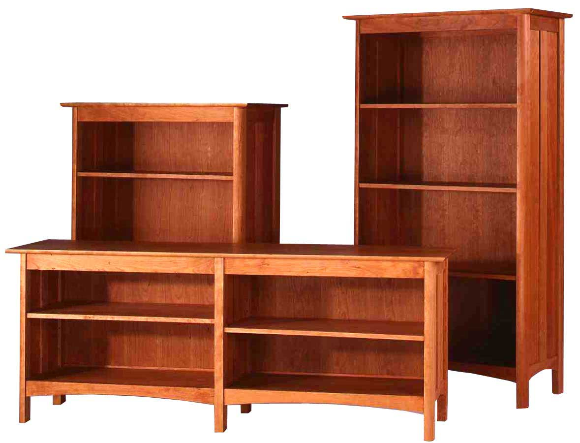 Oak wood bookcases office furniture for Solid wood furniture