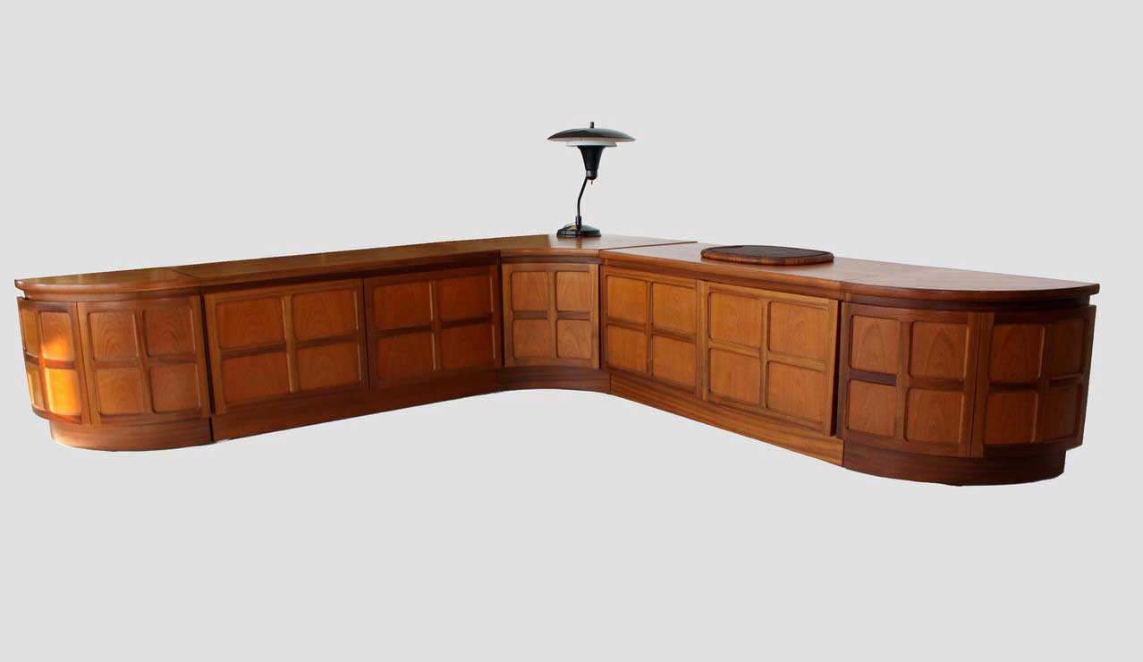 Danish Teak Sectional Credenza Furniture