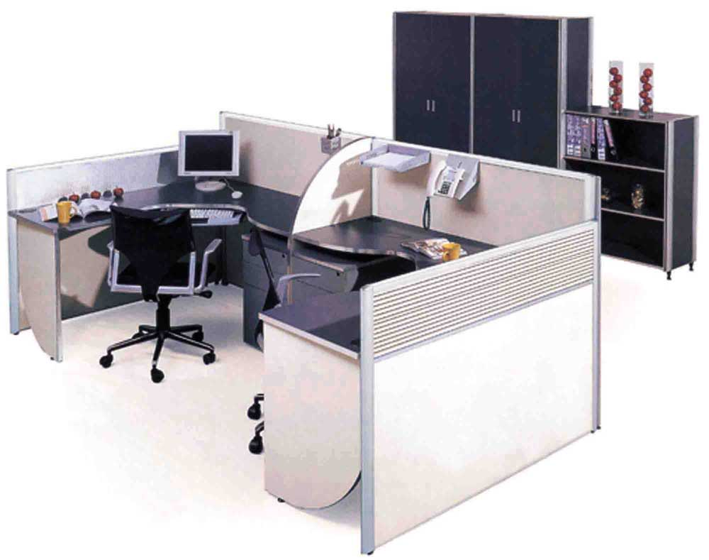 Employee work desks for office cubicle