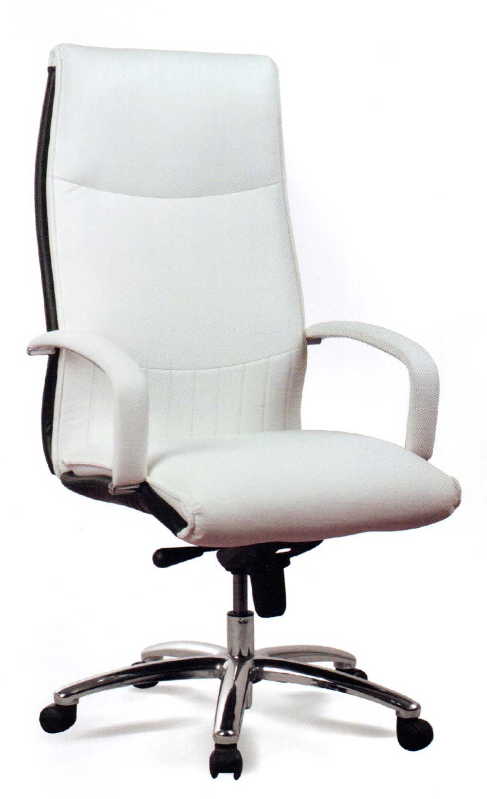 ergonomic executive white leather office