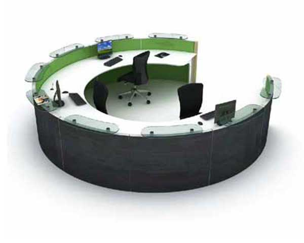 European Rounded Astoria Reception Desk Style