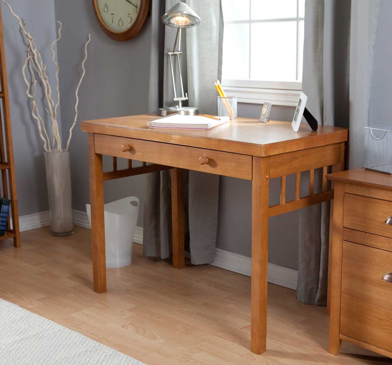 Hadley mission home office small oak desk