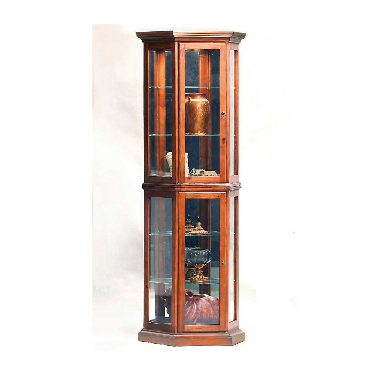 Half hex luxury display cabinets style