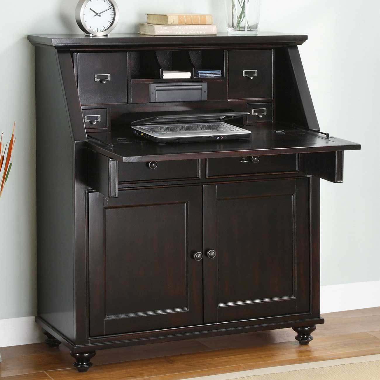 Untitled Black Secretary Desk