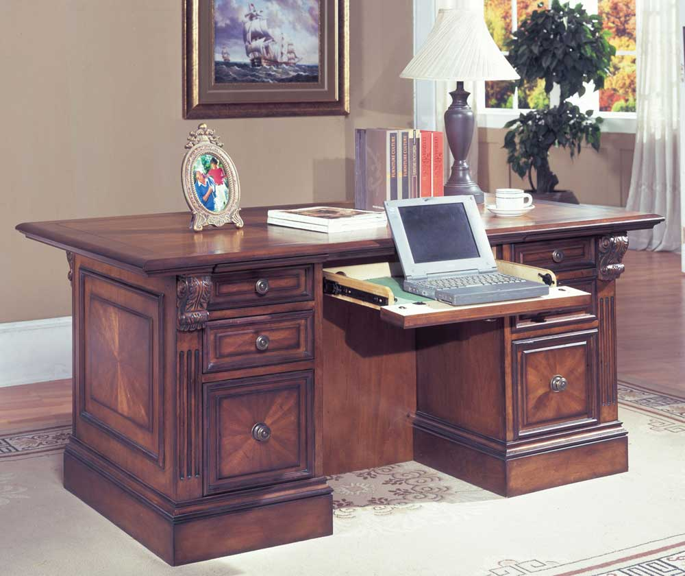 Huntington Home Office Double Pedestal Executive Computer Desk