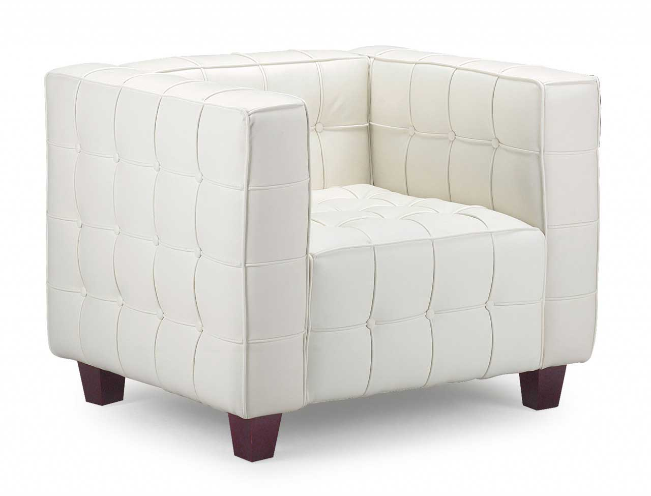 Swivel club chair leather office furniture for Modern white office chair