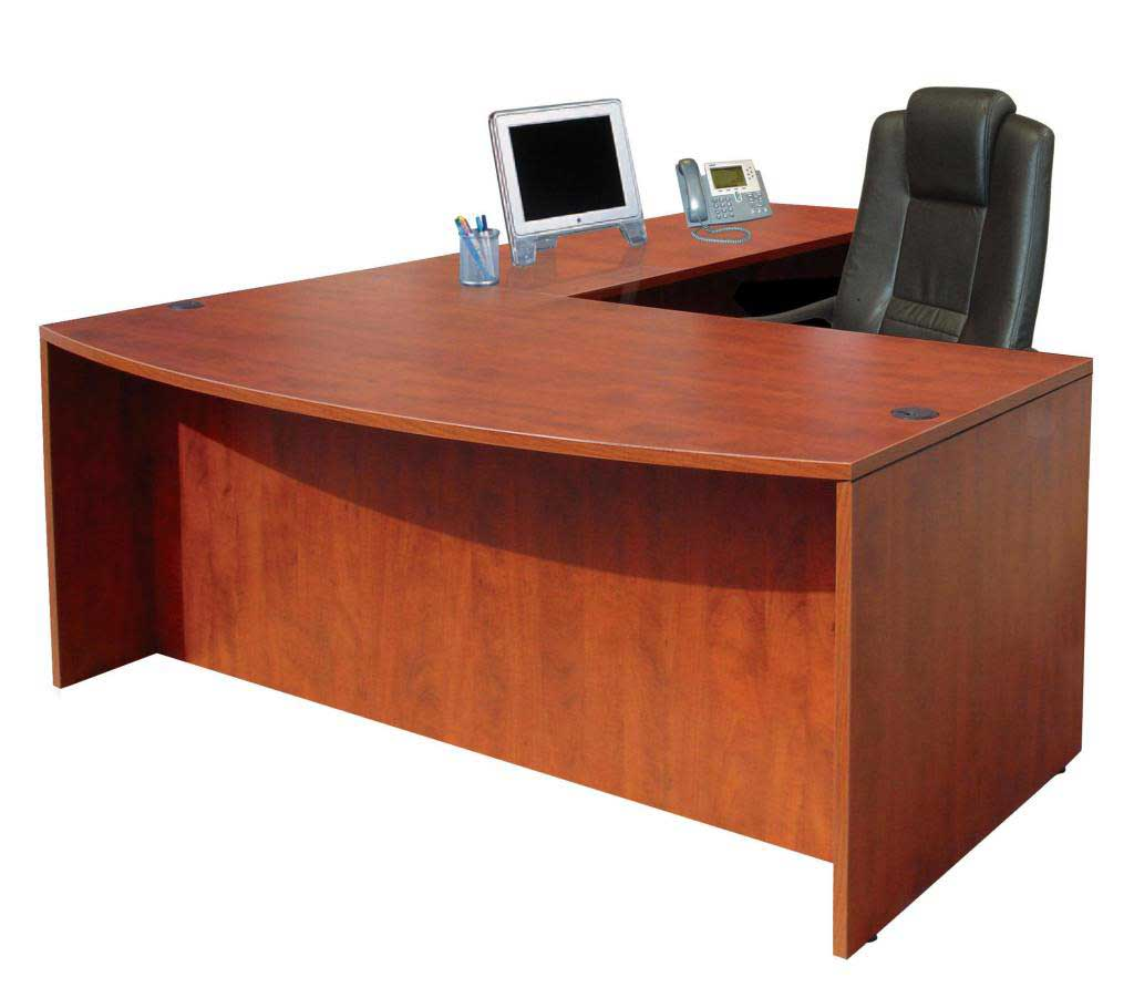 L-Shape Executive cherry Los Angeles work tables