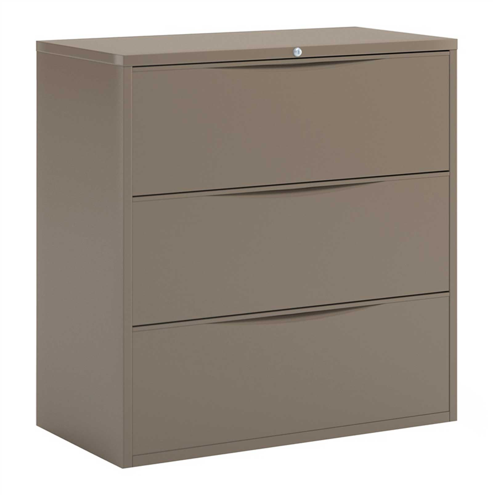 Mayline CSII Desert Sage Horizontal File Cabinets with 3 Drawers