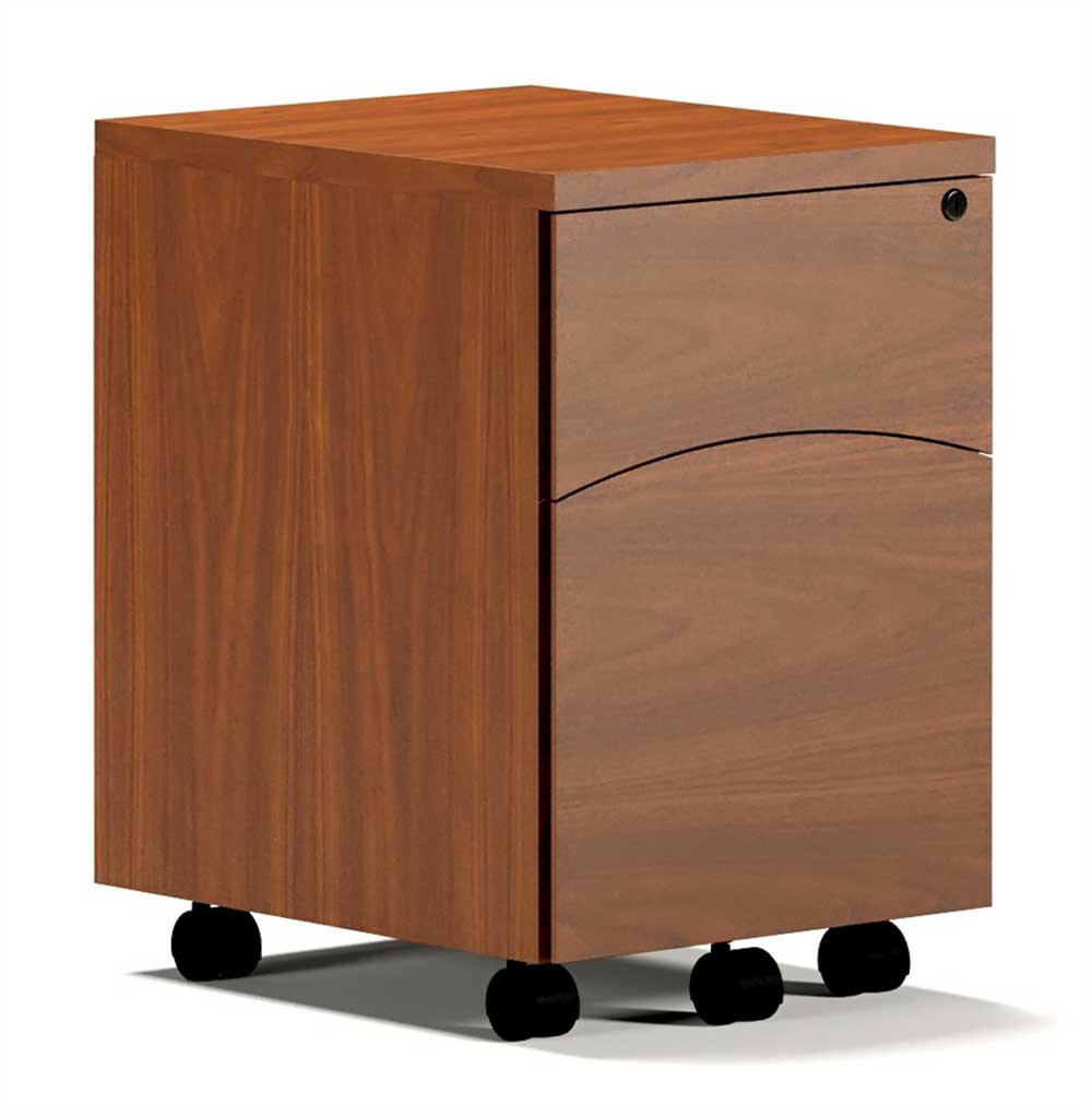 Mayline Mobile Pedestal Solid Wood File Cabinet
