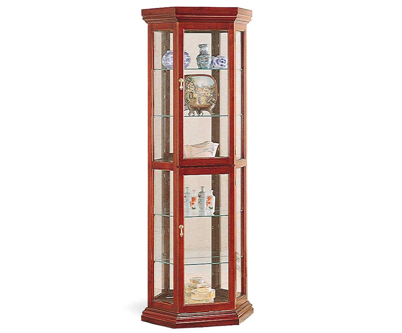 Glass Curio Cabinets For Luxury Decoration
