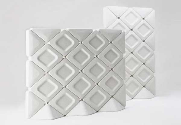 Modern wafer soundproof room dividers in white