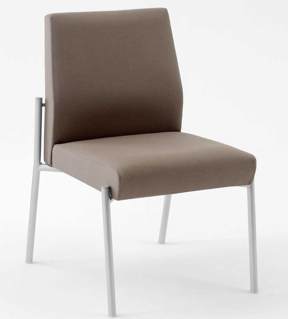 Armless Upholstered Chair Office Furniture