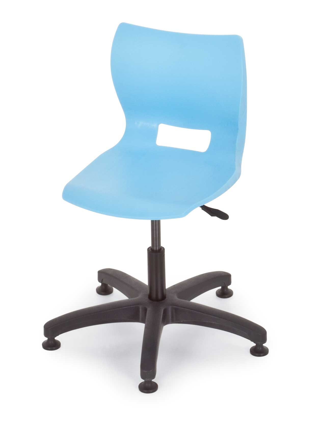 Plato blue adjustable height chairs