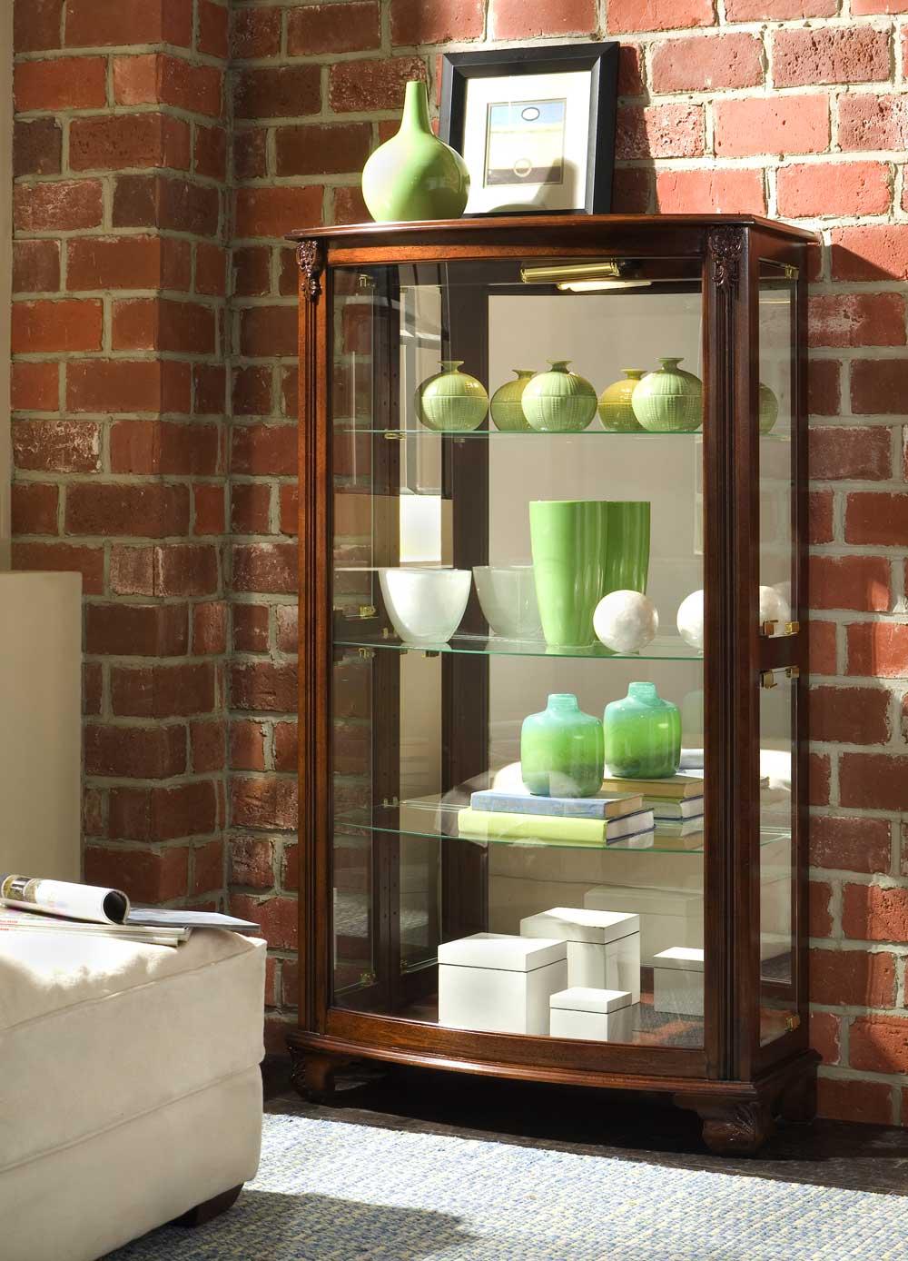 Pulaski Mantel Solid Hardwood Curio Cabinets