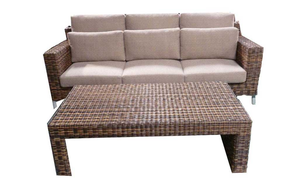Rattan office furniture sofa table in Japanese style
