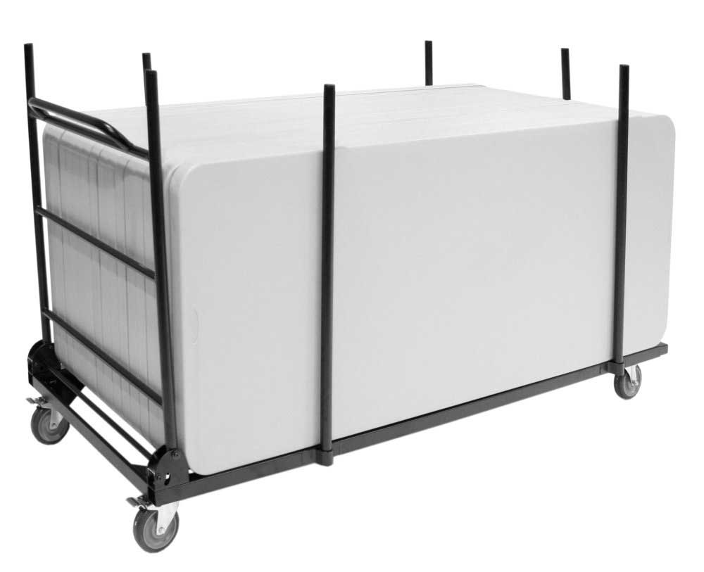 Rectangular Folding Table Cart