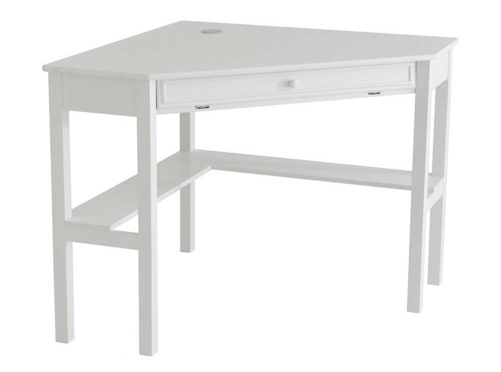 SEI white wood corner writing desk