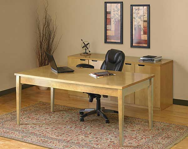 Solid wood personal home office tables with chair