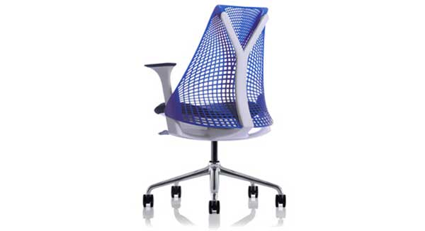 Stylish Herman Miller orthopedic blue mesh office chair