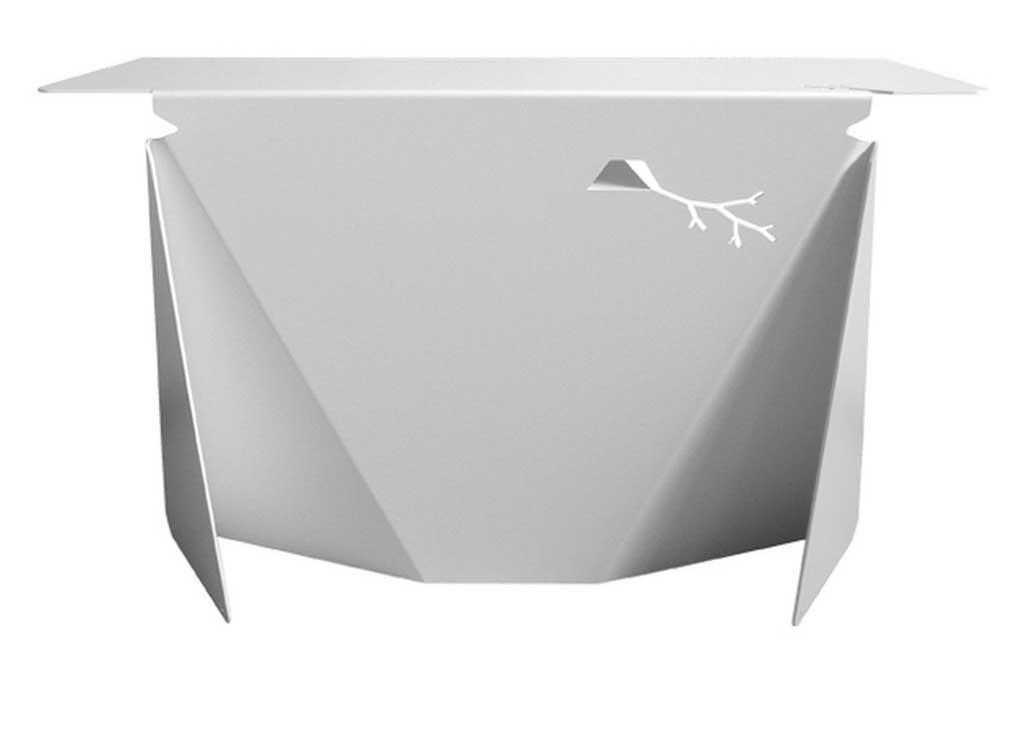 Stylish contemporary white steel office desk