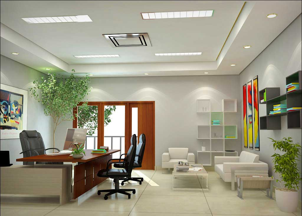 Stylish executive home office desk design