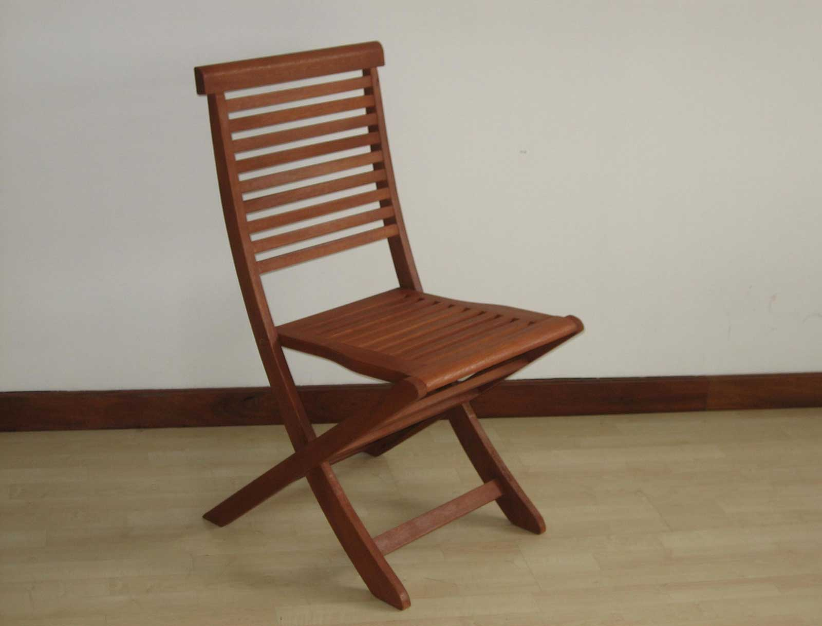 Victoria classic armless folding wooden chair