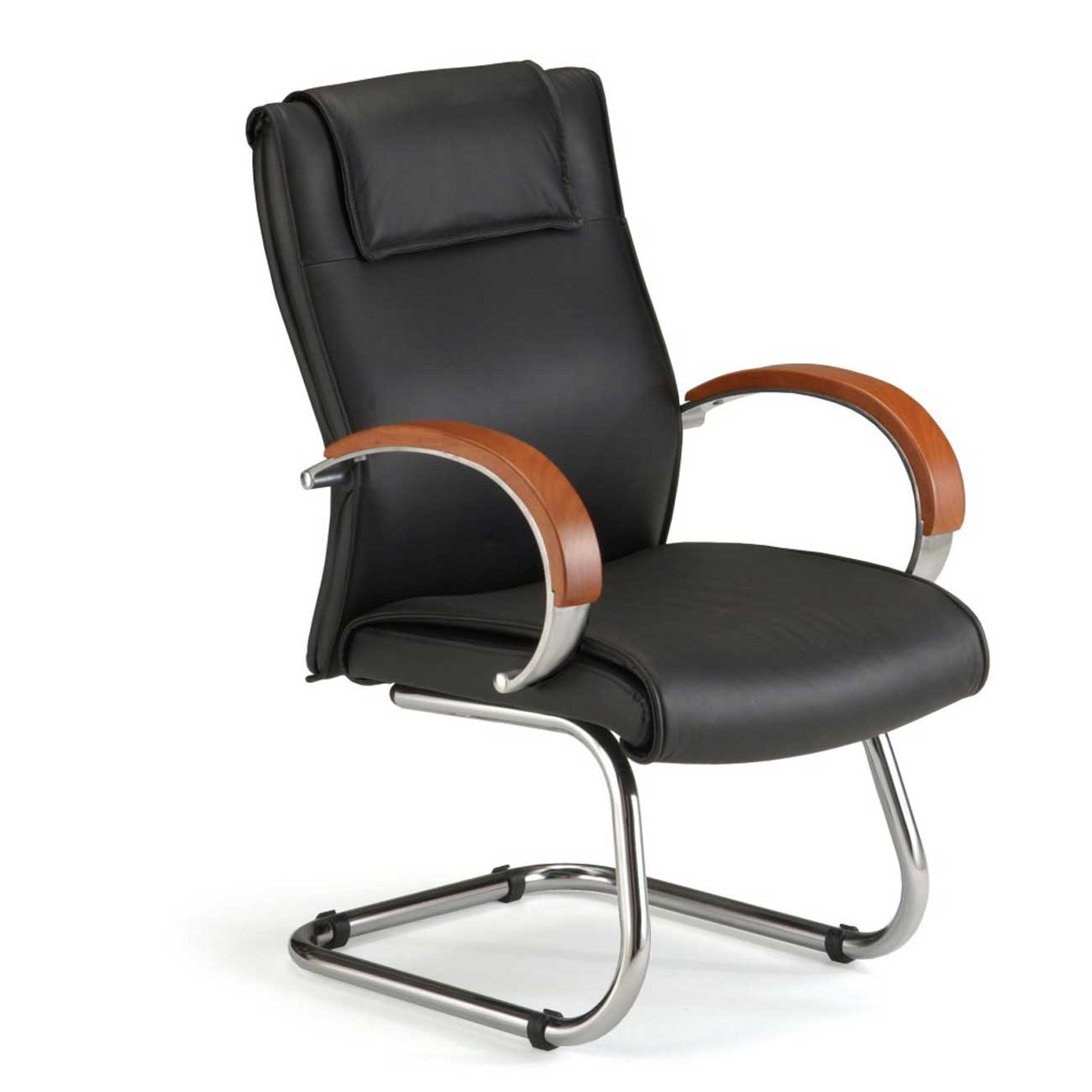 Wooden Arms Executive Leather Office Chair