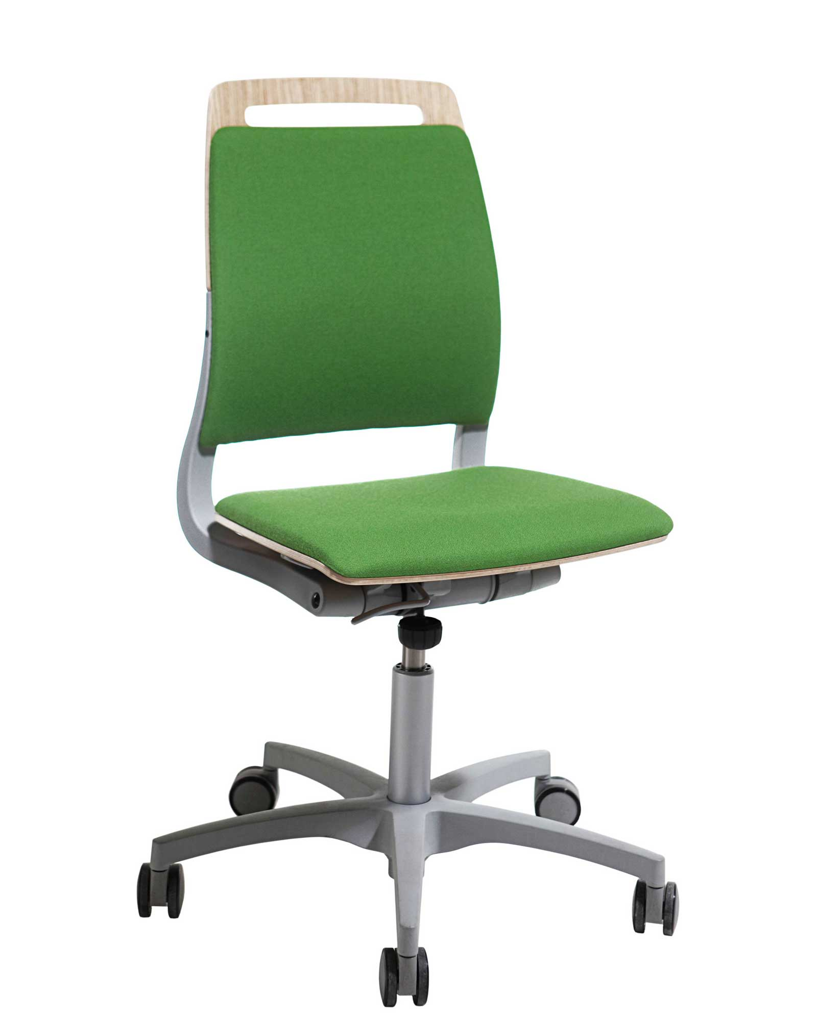 adjustable back green armless office chairs