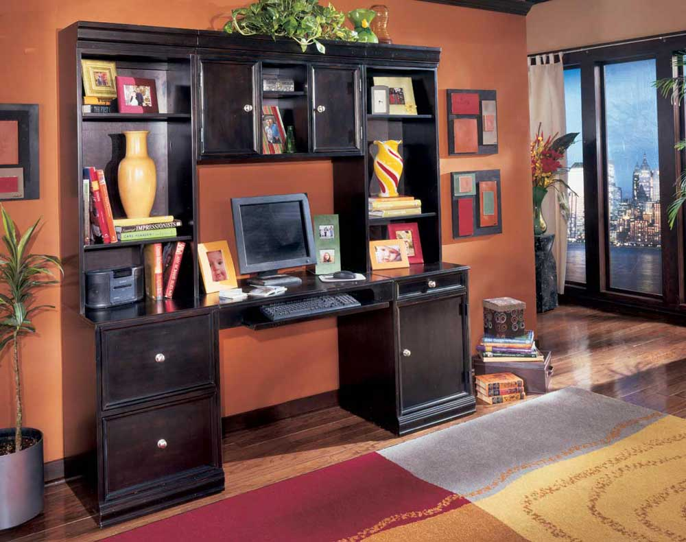 computer office furniture with hutch
