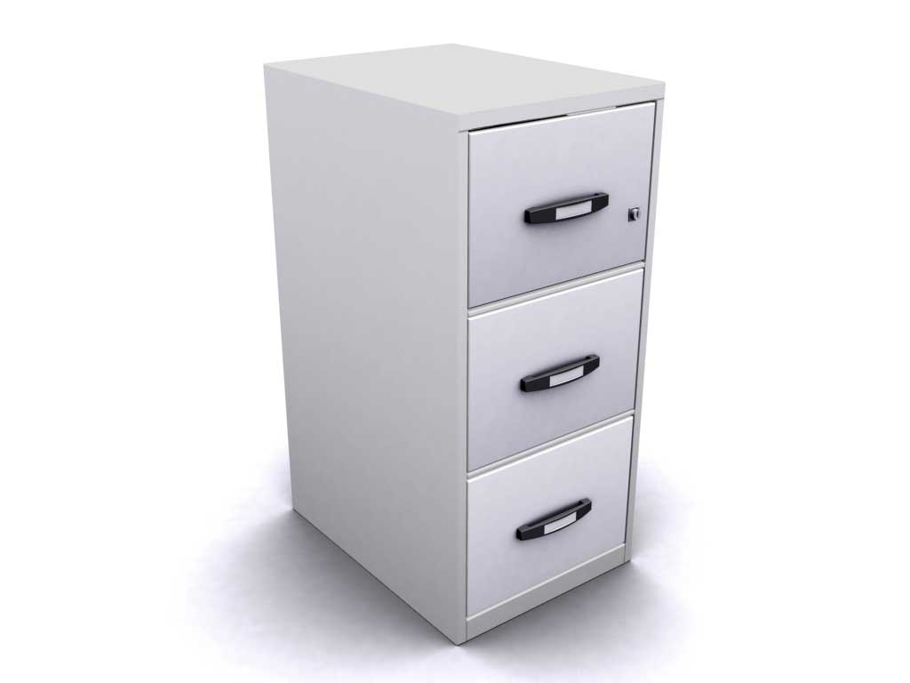 white alphabetical filing cabinet system