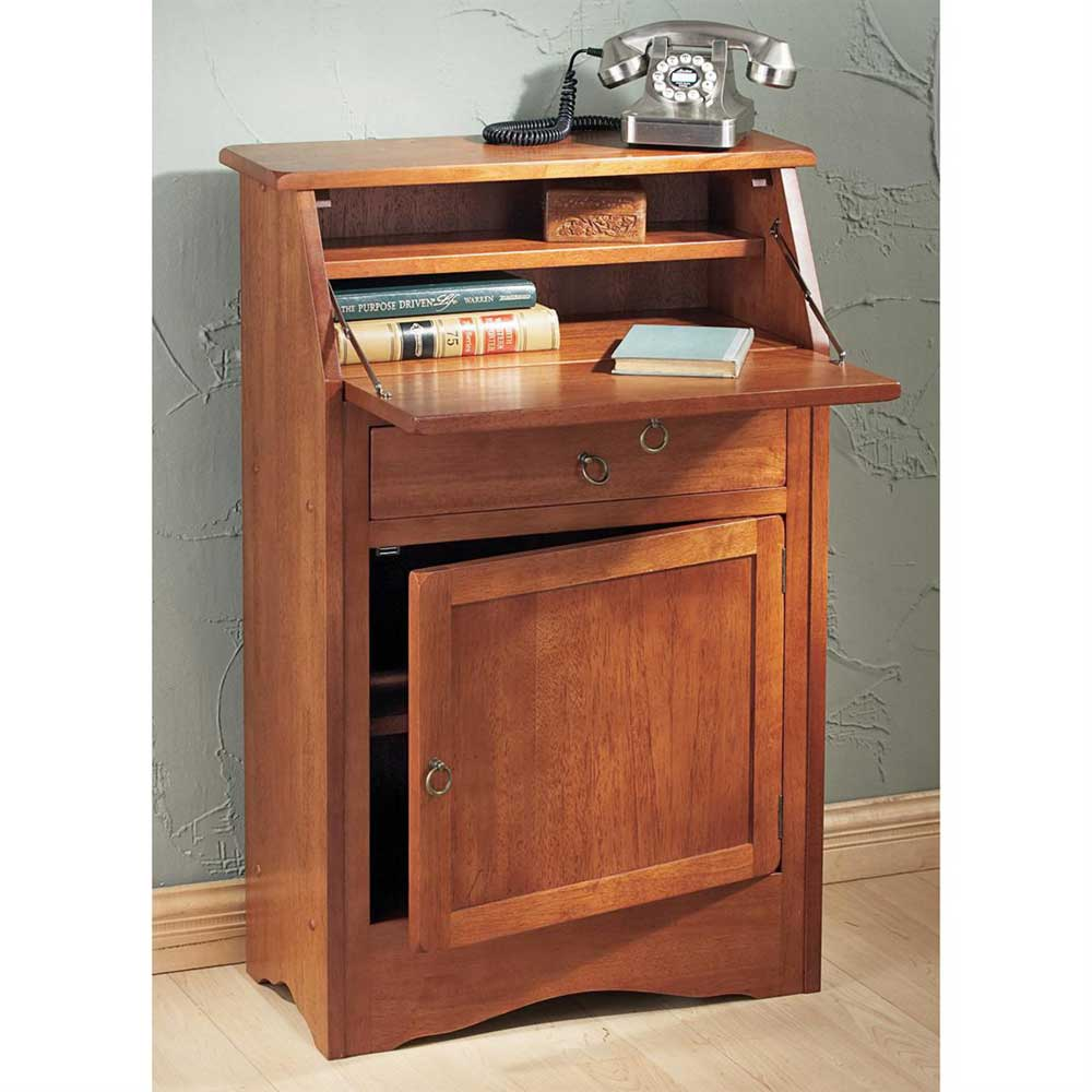 winsome solid wood secretary desk