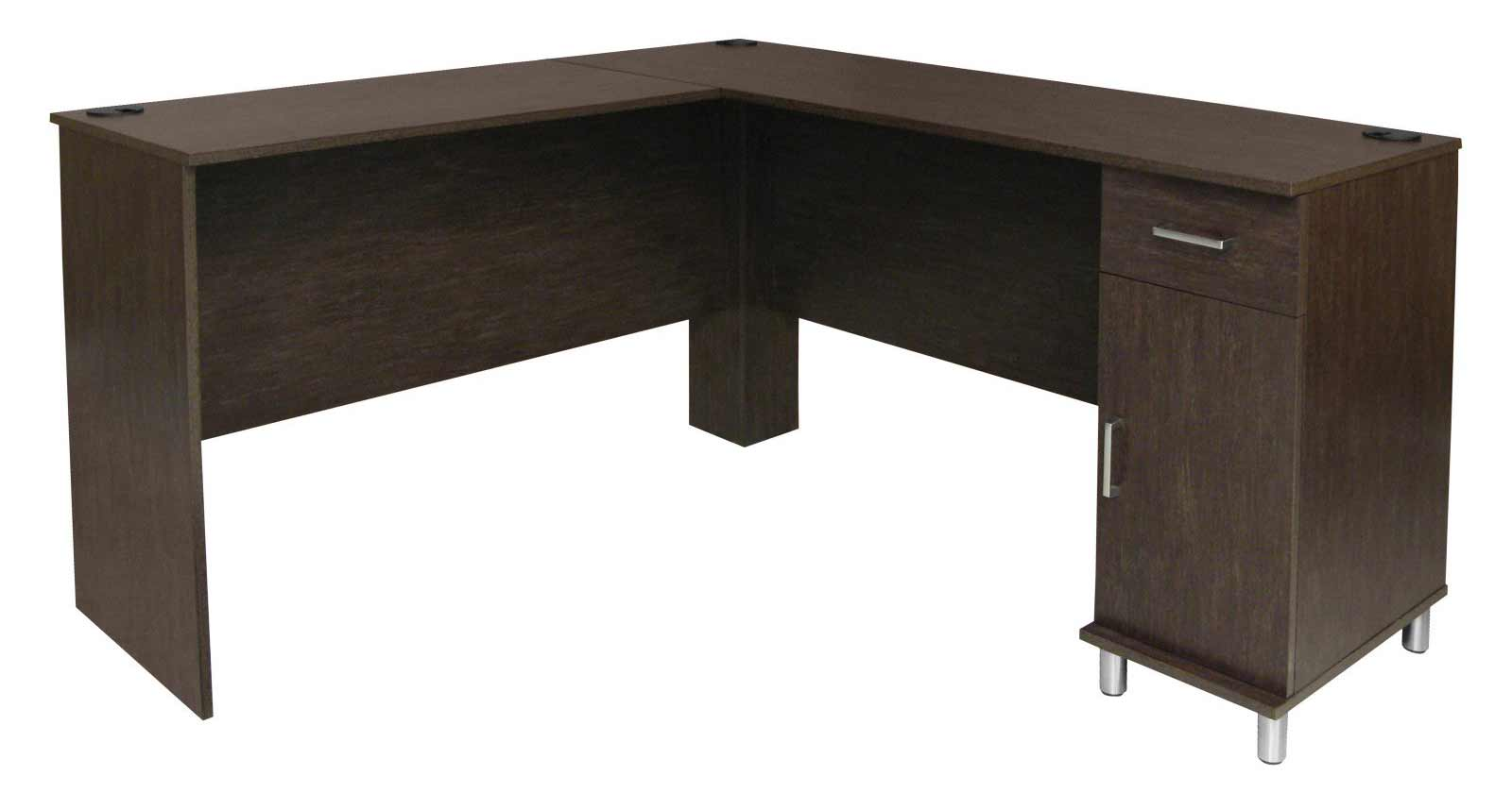 Ameriwood Modern Office Corner Computer Desk with Storage