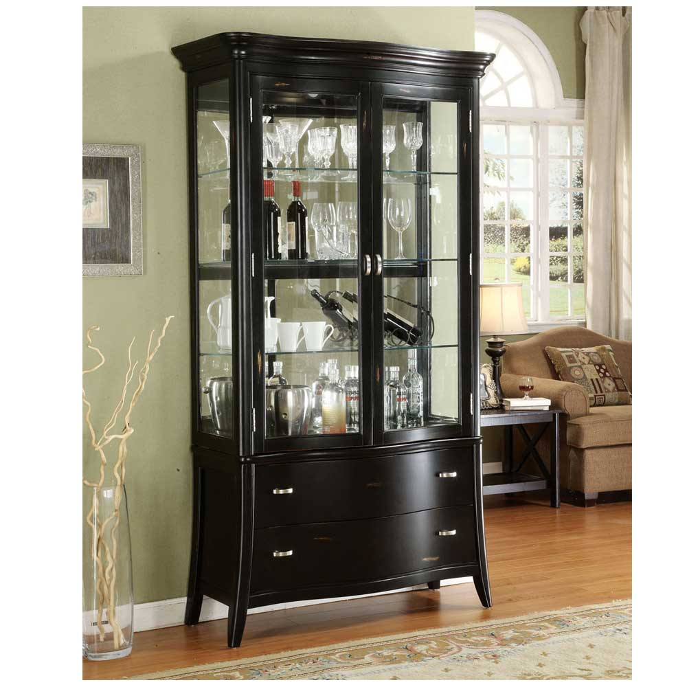 black corner curio cabinet for home office Black Corner Curio Cabinet with Light Small Corner Curio Cabinet
