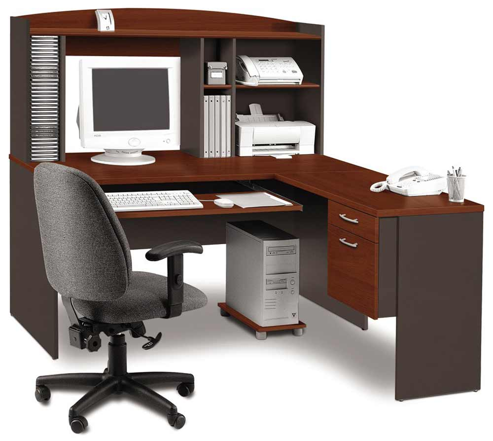 Computer desk workstation for home office for Home office workstation desk