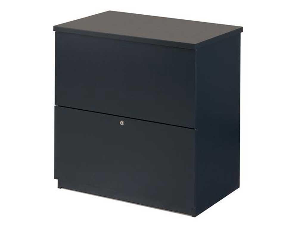 Bestar charcoal black rolling filing cabinet