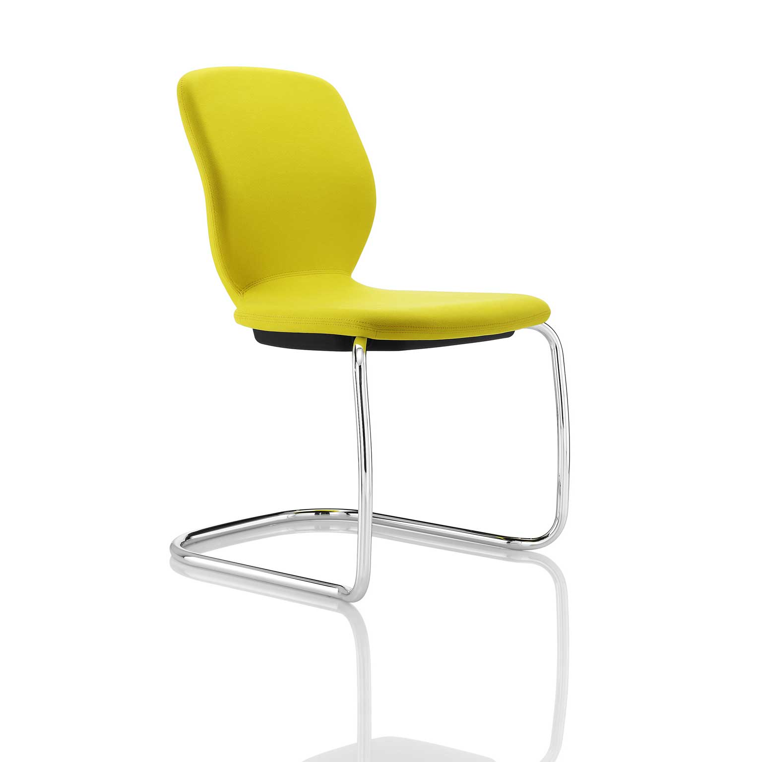 Boss stylish yellow cantilever visitors seat