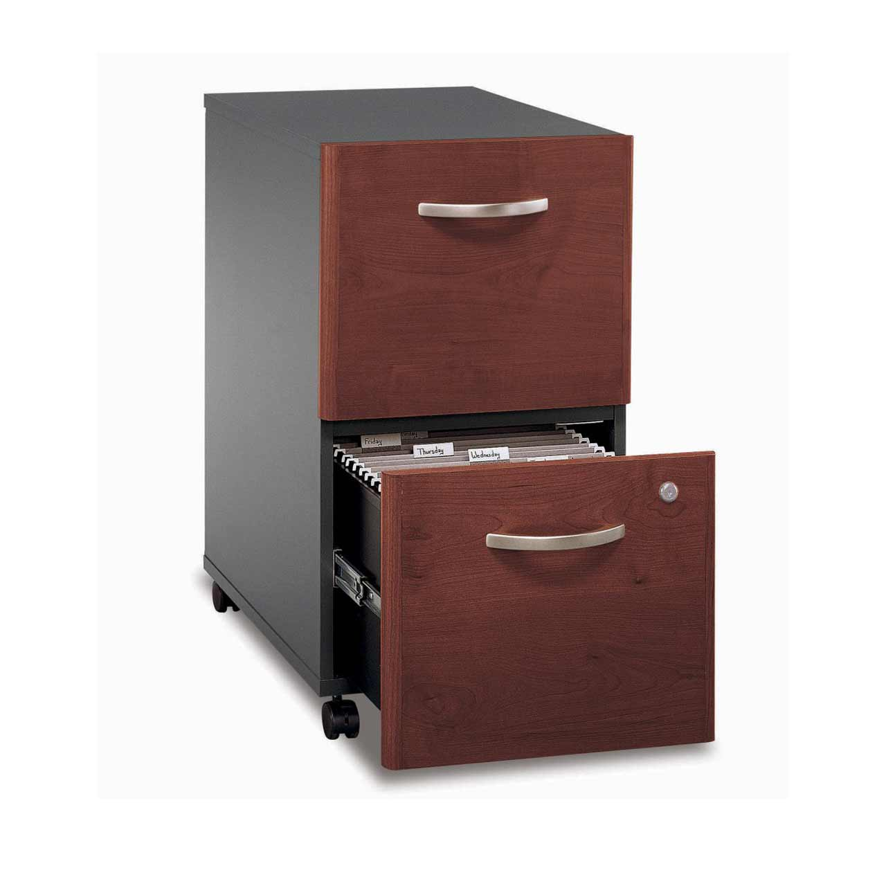 Bush Corsa Mobile 2 Drawers Metal Document Storage