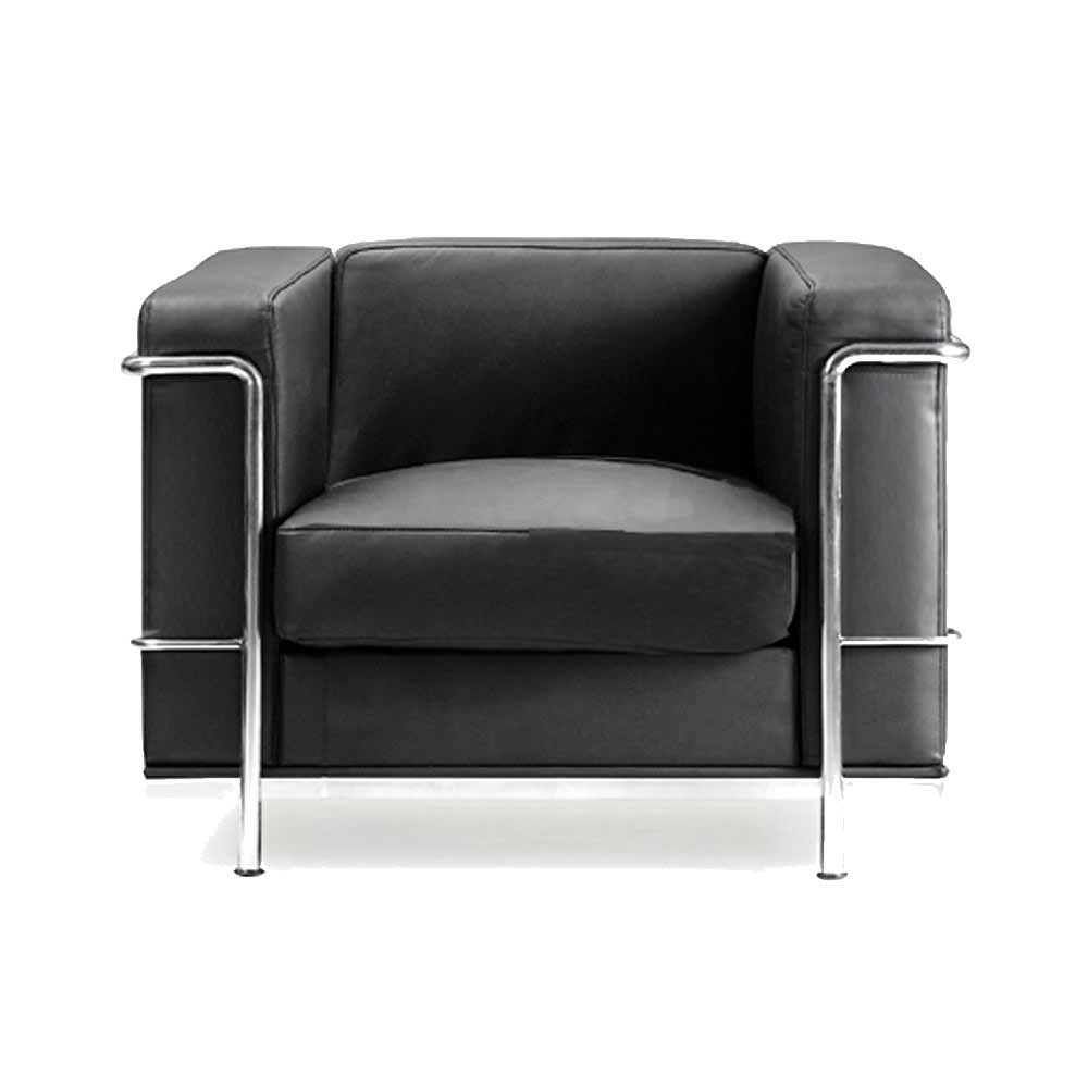Contemporary Black Leather Waiting Room Chair