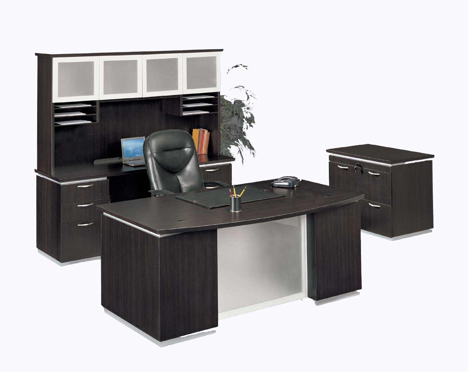 Executive Black Home Office Furniture Table