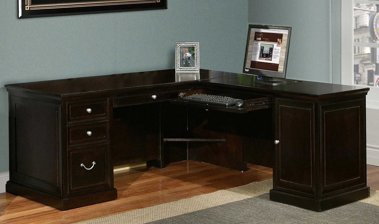 Fulton Contemporary L Shaped Computer Desk from Kathy Ireland