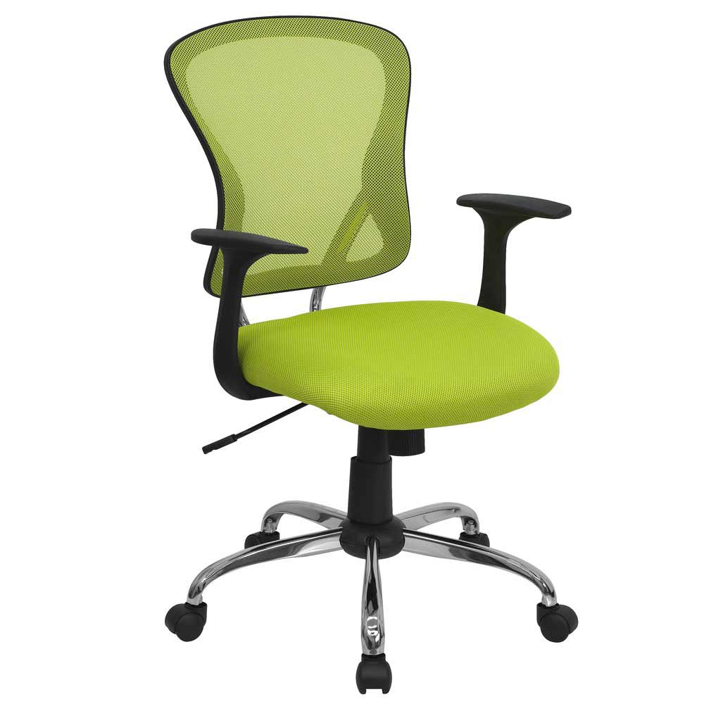 Green office back mesh chair for executive