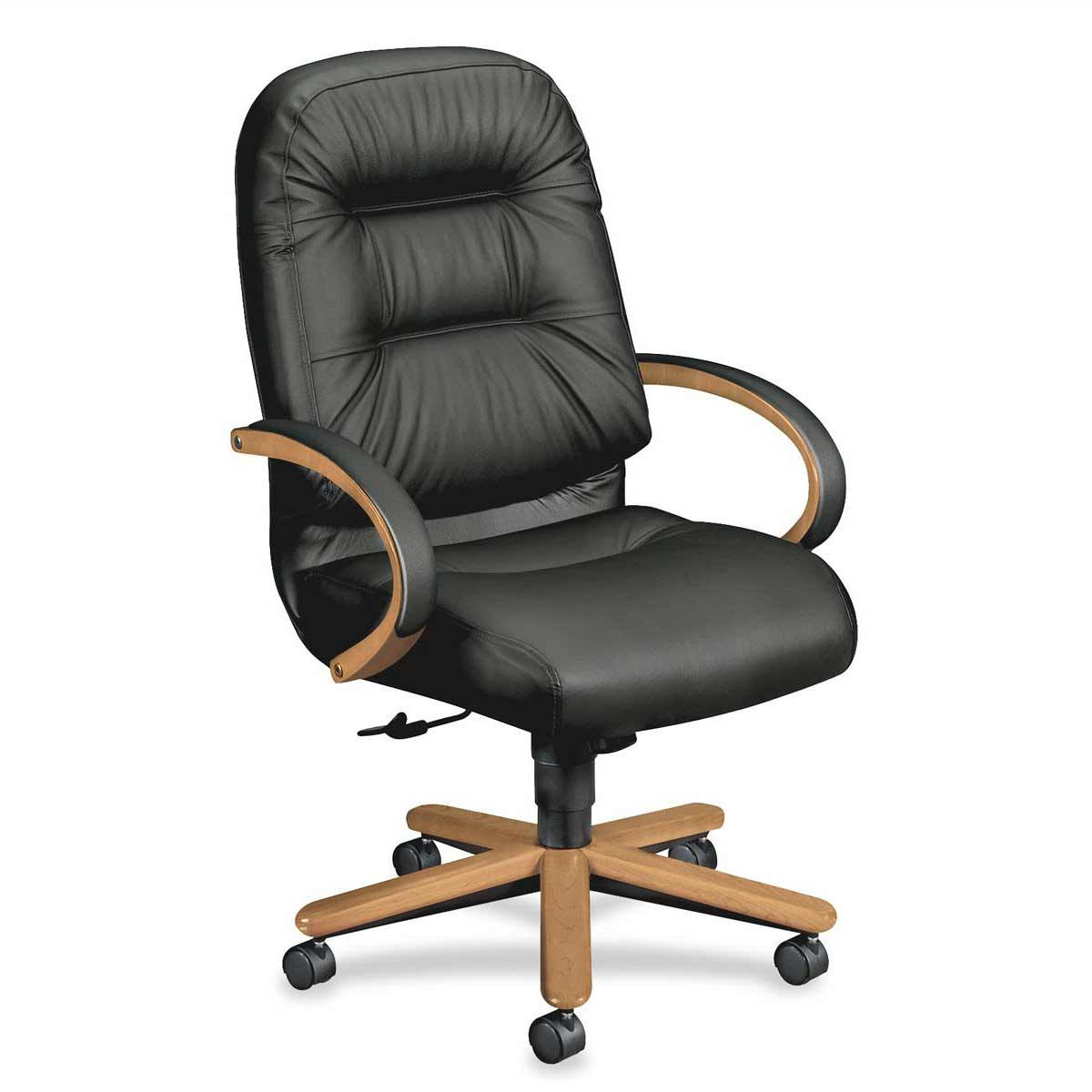 HON desk chair with soft high back