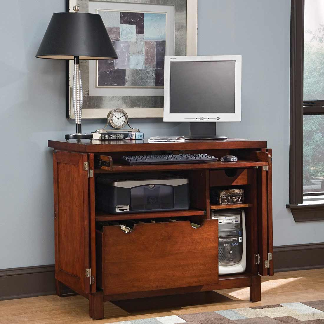 Small Computer Armoire Office Furniture