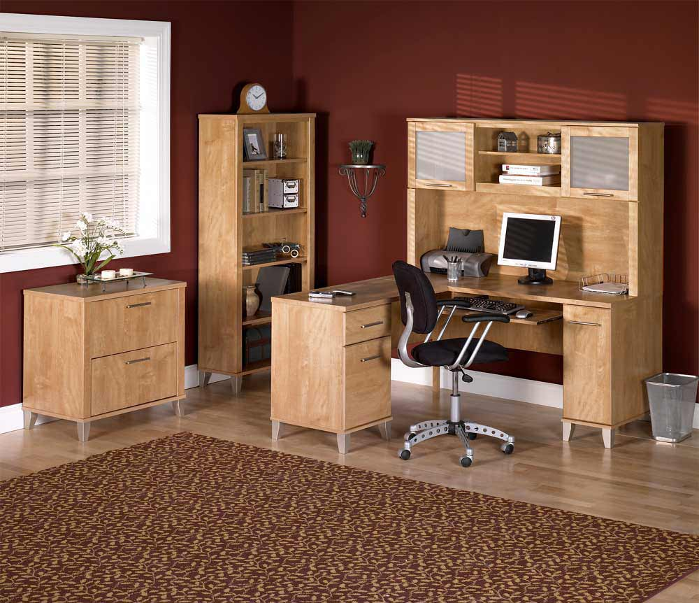 Modern Bush office furniture walnut collections